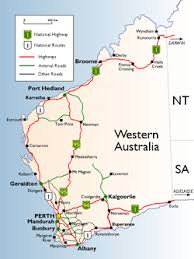 map of australia with cities and states western australia