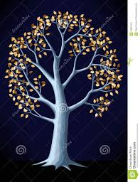 illustration of silver tree stock vector image 64834421