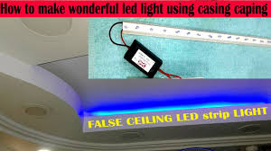 how to make wonderful led light using casing caping youtube