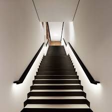 designs ideas cool monochrome staircase with hidden lighting