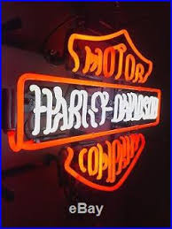harley davidson lighted signs official harley davidson real glass neon light sign vintage