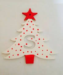 new cut out initial tree decorations now available to order 4 50