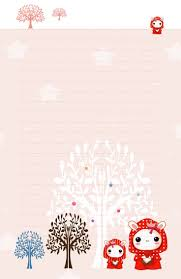 printable snowflake writing paper 317 best papel para cartas images on pinterest writing papers kawaii red hood bunnies stationery by tho be
