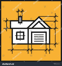 house garage building drawing private property stock vector
