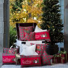 professional decorating with christmas plaid pillow perfect