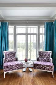 Brown Turquoise Curtains Living Room Patterned Turquoise Curtains And Sofas In
