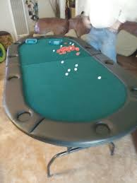 10 player poker table folding poker table very heavy wood and metal base 10 player