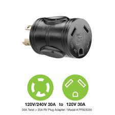 powerfit 30 amp 240 volt to 30 amp rv outlet adapter pf923055