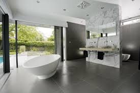oval white porcelain standing bathtub bathroom modern design grey
