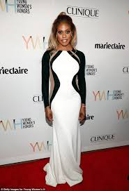 target la verne black friday add laverne cox sizzles in skin tight optical illusion dress at young