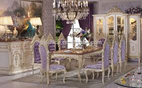 10 chair dining table set solid beech wood hand carved royal rococo bedroom furniture anqitue