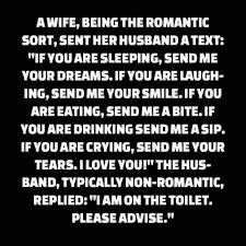 Romantic Memes For Her - dopl3r com memes awife being the romantic sort sent her