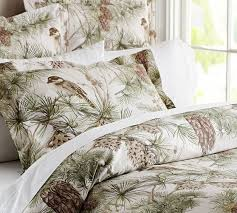 Pottery Barn Toile Bedding Pottery Barn Snow Pine Bird Designed This Pattern Using Antique