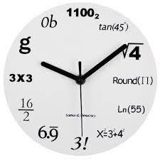 math clock timelike unique wall clock modern design novelty maths