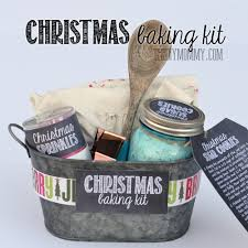 gift basket idea a christmas baking kit in a tin put sprinkles
