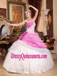 cinderella quinceanera cinderella quinceanera dress in pink and white with dotted fabric