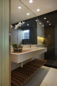 Pool Bathroom Ideas by Bathroom Design Idea An Open Shelf Below The Countertop 17