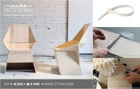 easy diy modern chair for 20 made with zip ties do it