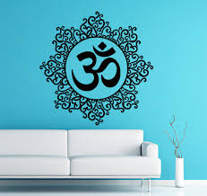 wall stickers mandala indien modele yoga oum om signe autocollant wall stickers mandala indien modele yoga oum om signe autocollant vinyle autocollant maison decor art peintures