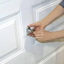 Security Garage Door by Secure Universal Garage Door Lock Kit W Spring Latch And Keyed