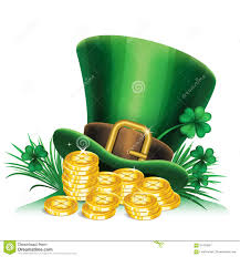 st patrick u0027s day green leprechaun hat with clover gold coins