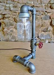 diy mason jar light with iron pipe 35 industrial lighting ideas for your home