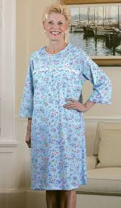 elderly nightgowns adaptive knit open back nightgown buck buck