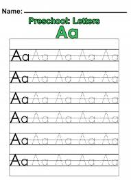 free preschool letter worksheets preschool a practice worksheet has the whole alphabet