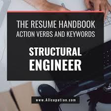 the resume handbook action verbs u0026 keywords for structural