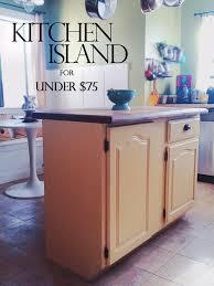 upcycled kitchen cabinet to diy kitchen island u2013 bungalow