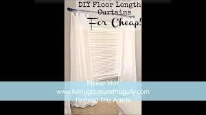 Floor Length Curtains Floor Length Curtains On A Budget