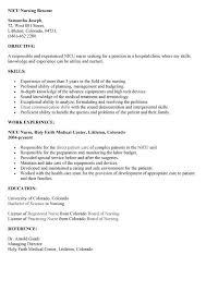 nursing skills resume sle nicu nurse resume sle neonatal nurse jobsxs com