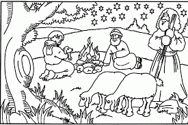 Bible Christmas Story Coloring Pages Kids Coloring