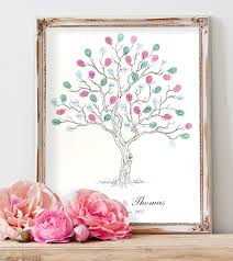 Wedding Trees Fingerprint Trees U0026 Finger Print Guest Books Alternative Guest
