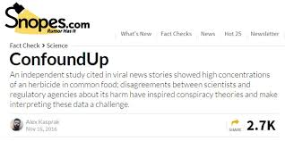 Challenge Snopes Snopes Claims About Glyphosate In Food Illumination