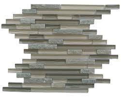 linear bark new era ii shell grey backsplash tile with glass and