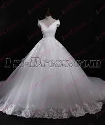 modest off shoulder lace wedding dress for 2017 1st dress com
