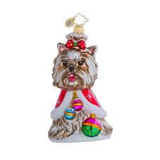 radko ornaments ornament a yorkie