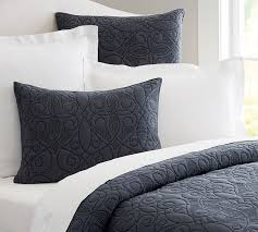 Quilted Cotton Coverlet Washed Cotton Quilt U0026 Sham Pottery Barn