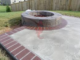 Concrete Backyard Ideas by Concrete Patio Designs With Fire Pit Small Concrete Backyard Ideas