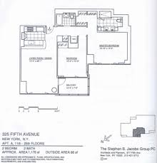 New York Condo Floor Plans by 325 Fifth Avenue Murray Hill Manhattan Scout