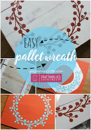 Home Decor Tutorial by Craftaholics Anonymous Diy Pallet Wreath