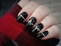 be bold the best black and white nail designs 5
