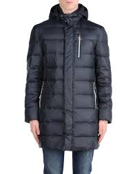 love moschino down jacket in gray for men lyst