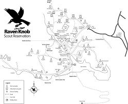 Raven Maps Raven Knob Camp Map
