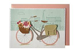 a bike in embellished bicycle greeting card cyclemiles