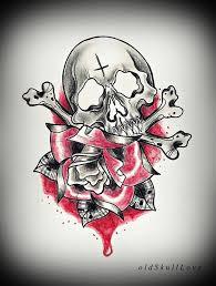 skull and rose tattoo design by mweiss art on deviantart tattoo