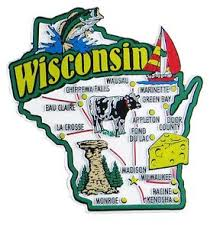wisconsin map usa wisconsin usa map state magnet magnetic maps of 50 states usa