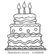 birthday cake clipart black white free clipartxtras