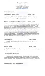 General Laborer Resume Sample Resume Objective General Labor